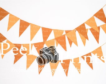 6ft.x4ft. Orange Flag Banner Vinyl Photography Backdrop - Photo Booth Prop -  Fall and Halloween Vinyl Backdrops