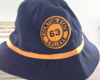 Canvas  Beanie from Trenton State College with Patch 1963