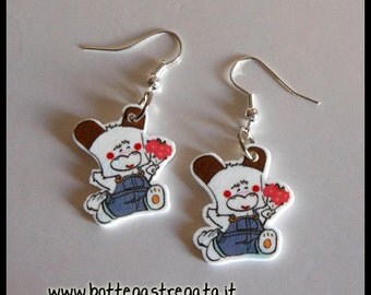 Hello Spank Earrings Cartoons