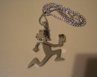 ICP HATCHETMAN  Polished Stainless Steel pendant with a 30 inch ball chain