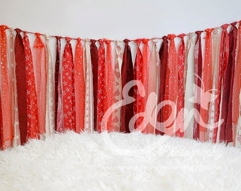 Christmas Digital Download Backdrop or Valentines Day Red Tassles and Fluffy Rug Prop Scene for Newborn Baby and Toddler Photography