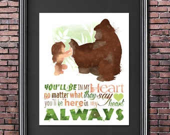Tarzan You'll Be in my Heart 8x10 Poster - DIGITAL DOWNLOAD / Instant Download / Printable