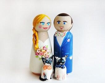 Wedding Cake Toppers - Wedding figurines and Family company animal