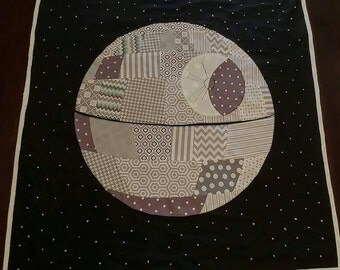 Small Moon quilt- Death Star