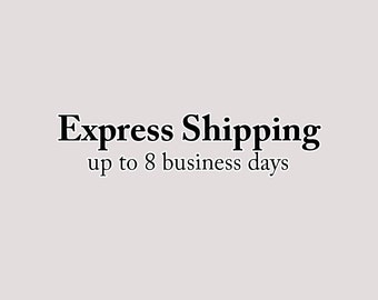Express Shipping - 2- 8 business days - EMS