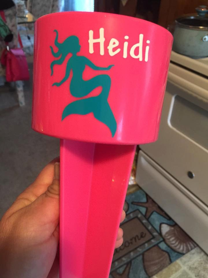 personalized mermaid beach spiker cup holder winter by