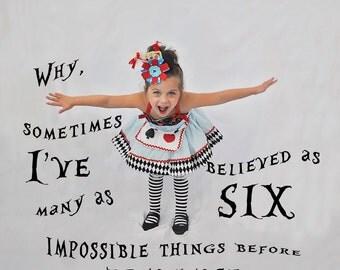Alice in Wonderland dress, Alice tutu outfit, Alice in Wonderland Birthday