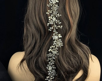 Wedding hair vine, Rhinestone bridal flexible hair vine, Crystal Vine Comb, bridal hair accessories, wedding hair accessories
