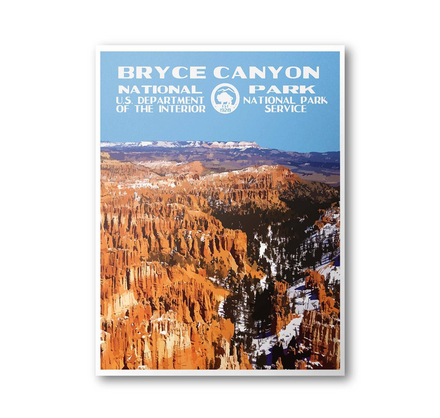 Travel To National Parks Poster: Bryce Canyon National Park Travel Poster