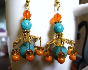 Bohemian Chandelier Earring's, Handmade Boho Earrings, Handmade Jewelry