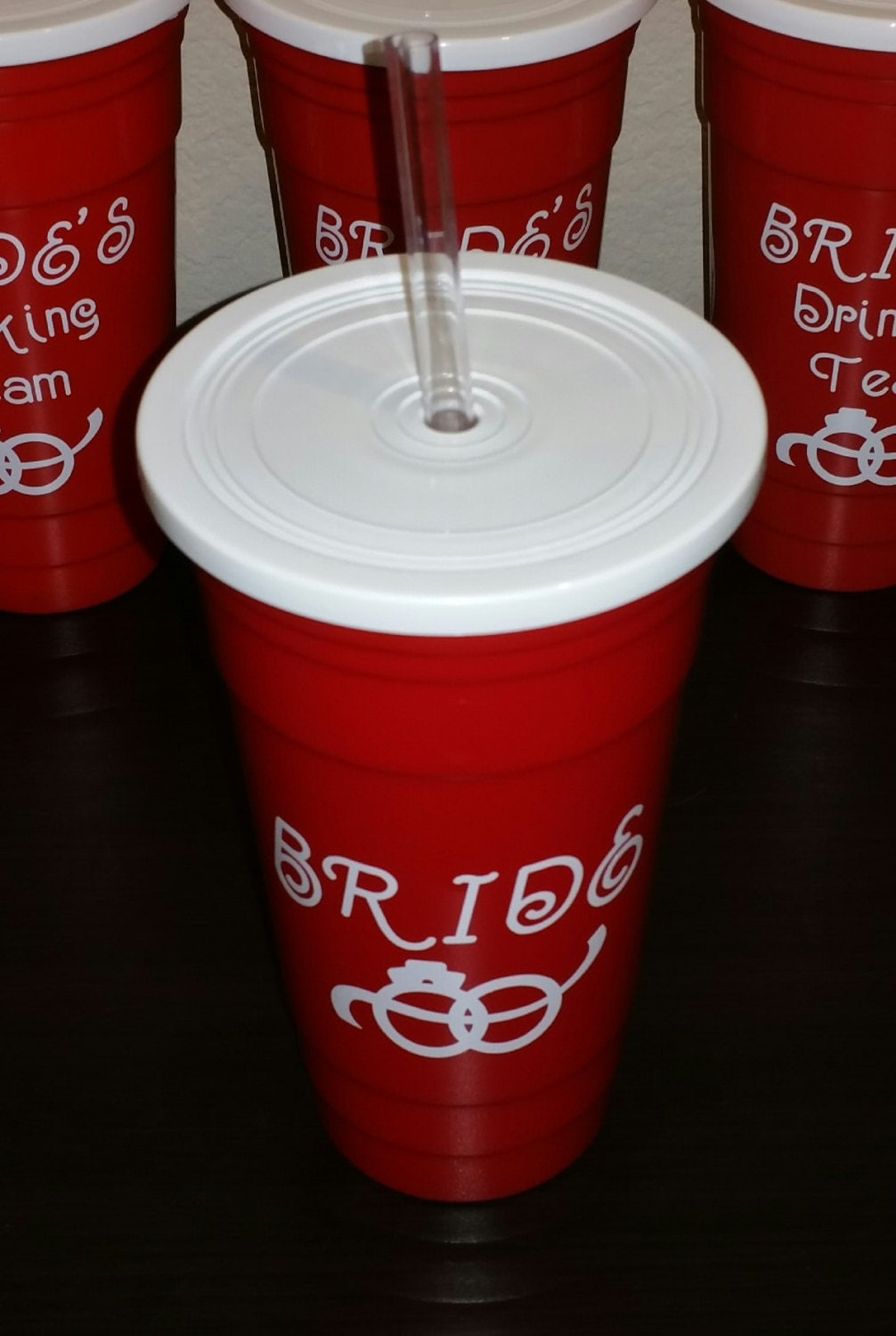 32 Ounce Bride Red Solo Cup Bpa Free Plastic Tumbler With Lid