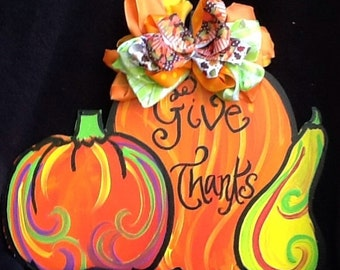 Happy fall y'all sign, happy fall sign, fall door sign, pumpkin door sign, thanksgiving sign, happy thanksgiving sign, pumpkin door hanger,