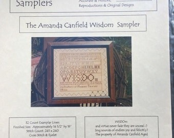 The Amanda Canfield Wisdom Sampler by Handwork Samplers