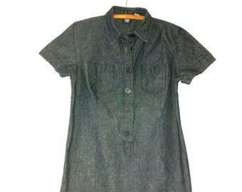 Vintage Gap Dress - Shirt Waist Denim Dress