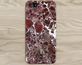 Maroon Marble x White Stone Phone Case Texture iPhone 6 iPhone 6 Plus Tough iPhone Case Galaxy s8 Samsung Galaxy Case Handmade CASE ESCAPE