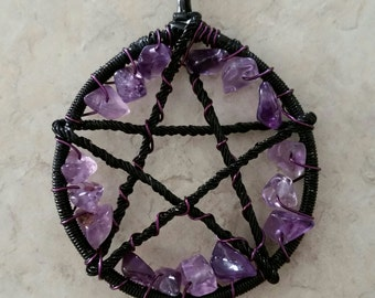 Wire Wrapped Pentacle Pendant