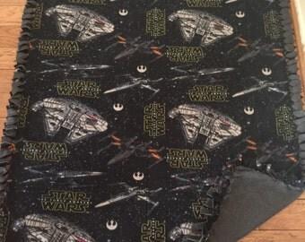 Star Wars fleece throw no sew fleece blanket