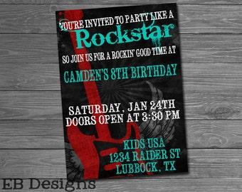 Rockstar Invitation