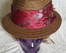 Flower Tie Fedora