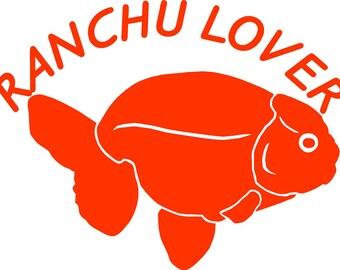 Ranchu goldfish decal