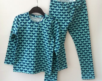 girls set, tshirt with leggings, 104 mt