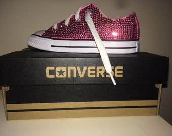 Girl's Jeweled Converse Sneakers