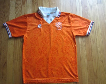 Vintage 1994 World Cup KNVB Netherlands Holland Dutch Soccer Football Jersey Lotto