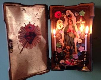 Ave Maria Shrine Assemblage Curio
