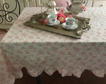 Romantic flowers tablecloth