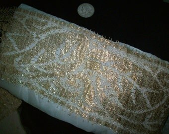 """Metallic gold lace 1910s authentic yardage by the yard 4"""" wide"""