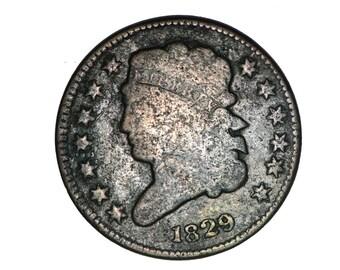 US classic half cent 1829         bn117