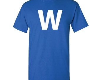 Fly the W royal Chicago Cubs tshirt