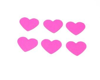 hot pink heart confetti, heart confetti, wedding confetti, party decor, confetti