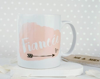 Fiancee Watercolour Mug