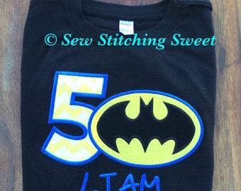 Batman Birthday Shirt, Superhero Birthday Shirt,  Personalized  Batman Shirt, Superhero Party, Batman Party, Personalized Superhero shirt