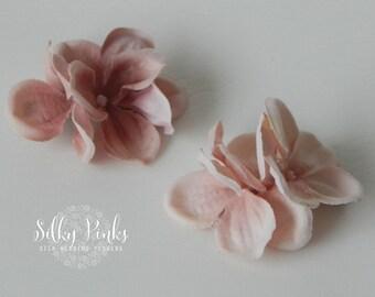 Blush Hydrangea Hair Clips, Hair Accessories, Pink Hair Clasps, Floral Hair Clips,  Pink Hair Decorations, Bridal Hair Accessories
