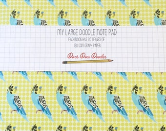 budgie A5 grid notebook
