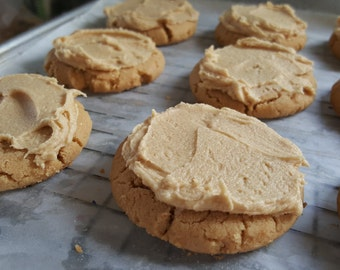 Frosted Peanut Butter Cookies  1 Dozen Gourmet melt in your mouth
