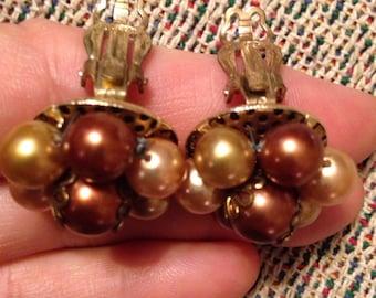 Items Similar To Elegent Crystal Bead Drop Earrings Lovely