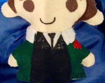 8 Inch Felt Hand Sewn Doll- Made to Order from your picture