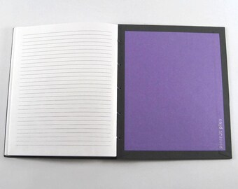 7x8.5 Lined Journal, College Ruled: Handmade Coptic-Bound Lined Notebook or Diary. Size Alto.