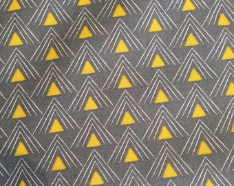 Chic Neutrals by Amy Ellis Gray with Yellow Triangles for Moda Fabrics