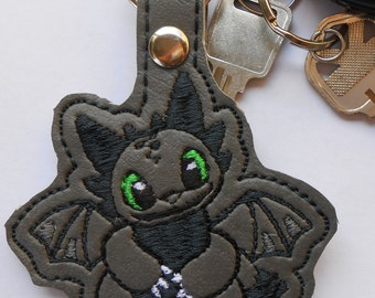 Toothless Key Fob, Key Ring, Key chain