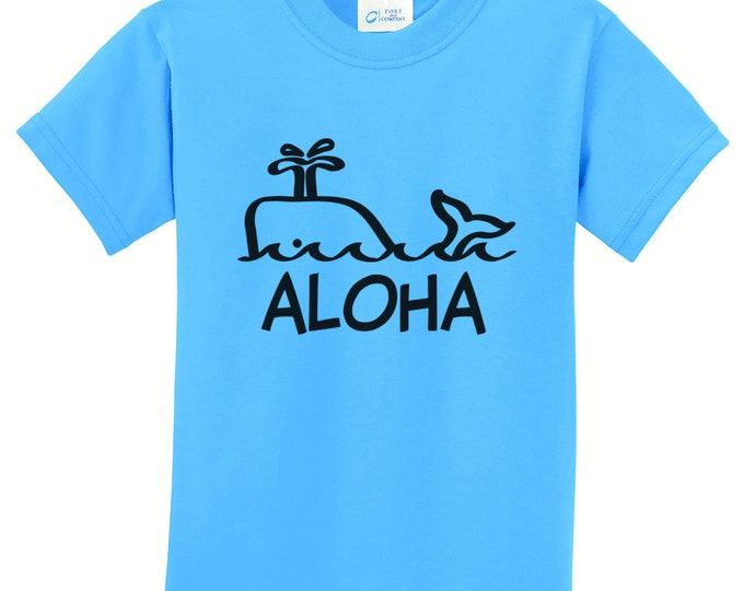 Aloha Whale Hawaiian T-Shirts for the Whole Family