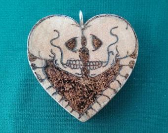 Skeleton romance pendant