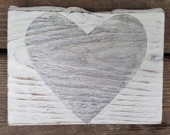 Rustic Silver Heart