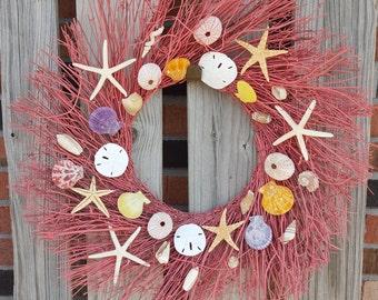 Sea Shell Twig Wreath