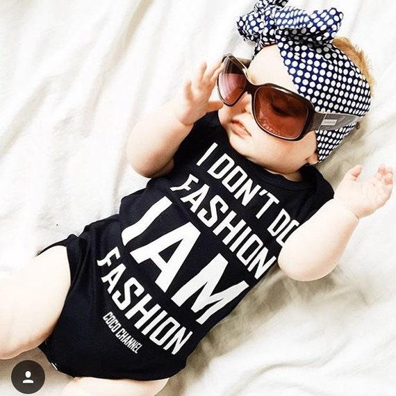 I don t do fashion I am fashion chanel baby Cute Bodysuit