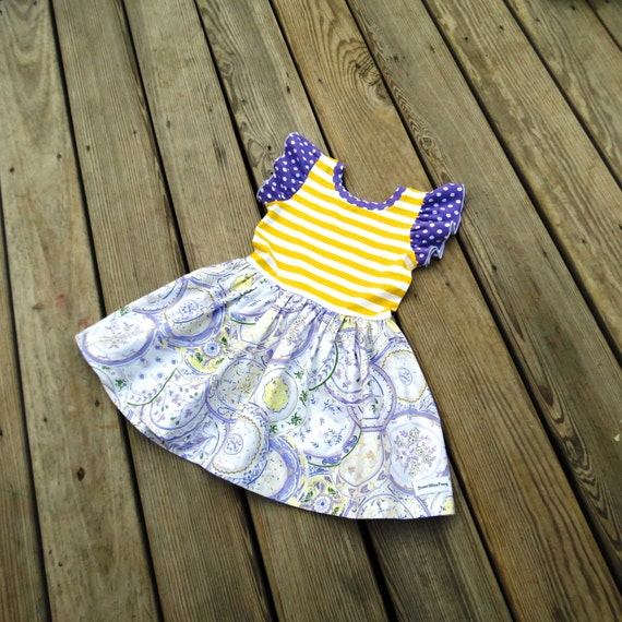 Violet flutter knit dressBaby violet dress toddler