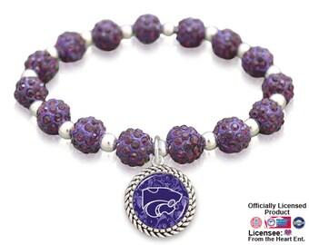 Kansas State Wildcats Sparkle Stretch Bracelet